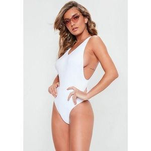 NWT Missguided High Leg Drop One piece Swimsuit